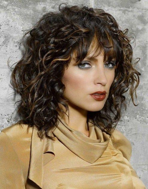 Medium Layered Curly Hair