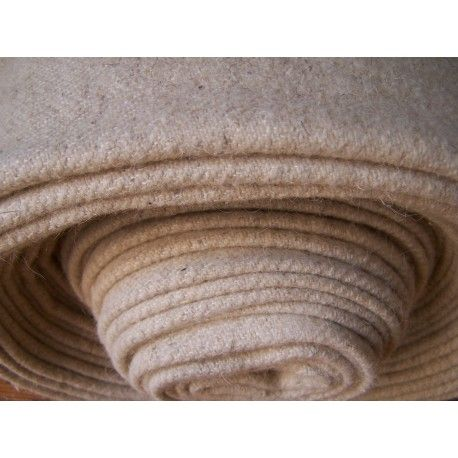 Handwoven wool cloth-natural white colour