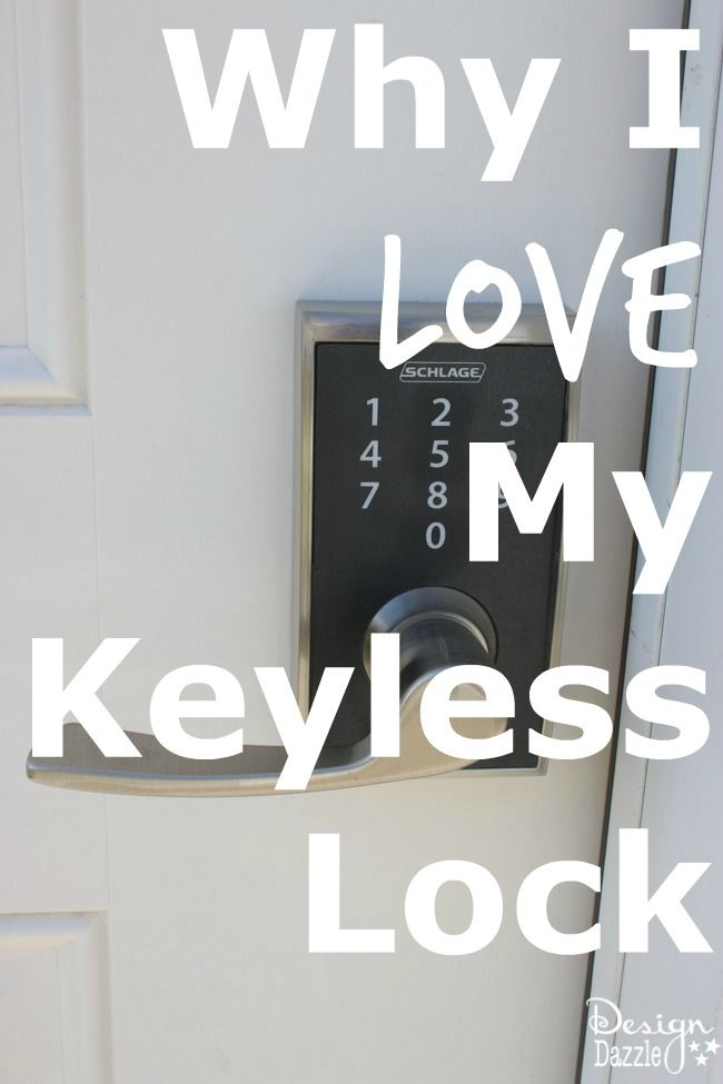 I recently received two Schlage Touch™ Keyless Touchscreen Locks to review and I have to share the reasons why I love them!