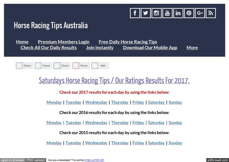 Saturdays July 29th Horse Racing Tips Today's Results