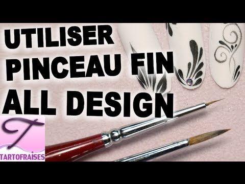 Technique Comment utiliser le pinceau de détail pour faire un nail art avec des gouttes, siprales et pétales Démo technique pinceau de détail pour connaitre ...