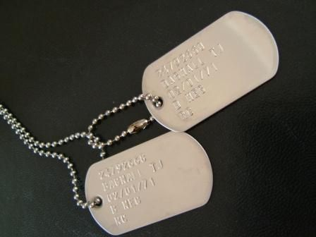 One of my favorite accessories. Dog tags from Aldo.