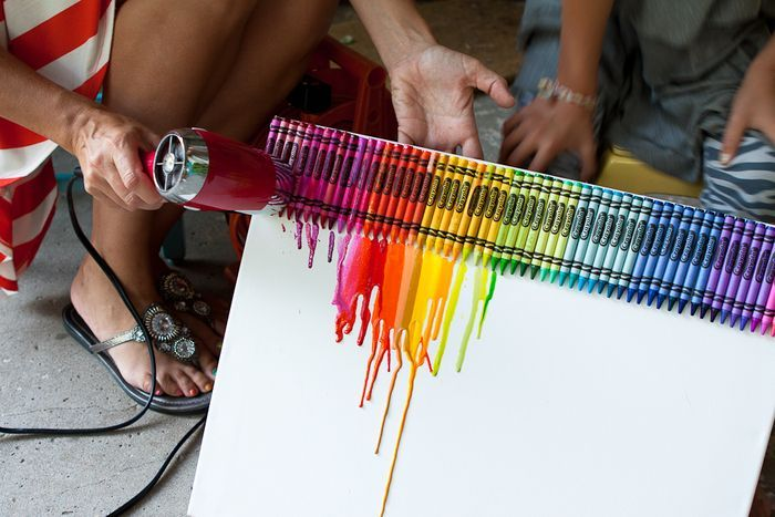 crayon art...cool..cool..for kids