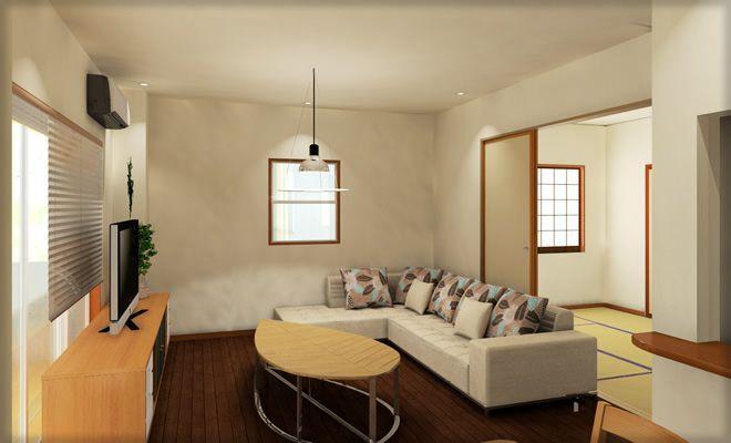 今回は17畳リビングに子供スペースを作って安全に楽しく遊んでもらえるようにアイデアを考えてみましょう!ただ17畳といってもキッチンダイニング込みなので、それほど広い印象はありません。 和室続きの一般的なマンションリビング …
