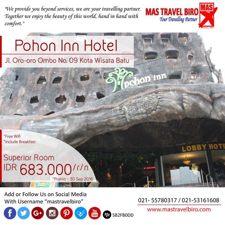 Menginap di Pohon Inn Hotel Malang Mulai dari Rp 683.000/Malam , yuk pesan ;) #mastravelbiro #hotelpromo #malang