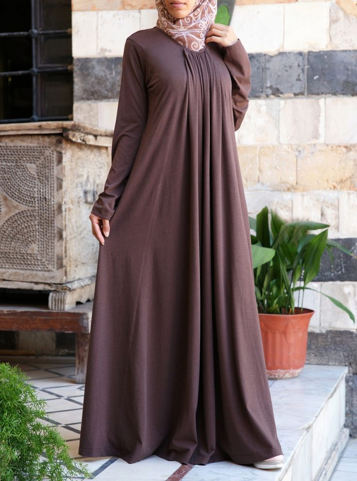This roomy abaya is as versatile as they come. Crafted in our supple jersey knit, you'll love the fit and feel of this abaya so much you might never want to take it off. It's more than just a weekend classic, it'll work for practically anything thrown your way.