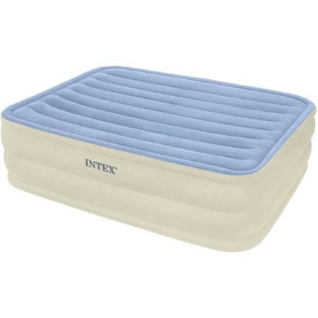 """Mattress Airbed Comfort Intex Queen 22"""" Rising With Built-In Electric Pump Bl - Inflatable Mattresses, Airbeds"""
