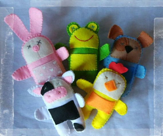 Felt funny toys Stuffed animals and Plushes by FairyBeadsStore