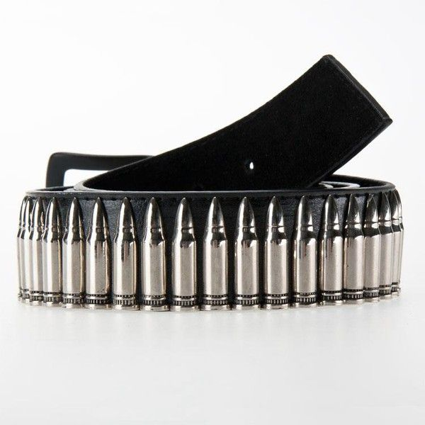 Silver Bullet Belt ❤ liked on Polyvore featuring accessories, belts and bullet belt