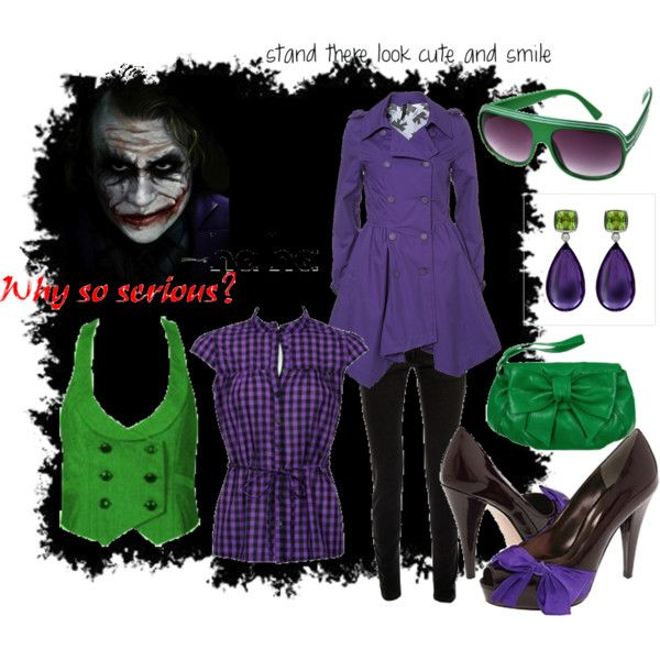 jokers girl by minnie me on polyvore - Joker Halloween Costume For Females