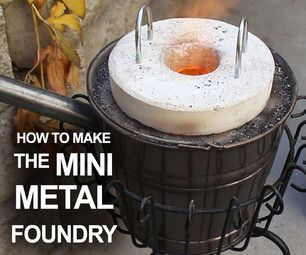 How to make a simple backyard foundry for less than $20, for melting pop cans, and casting aluminum.:
