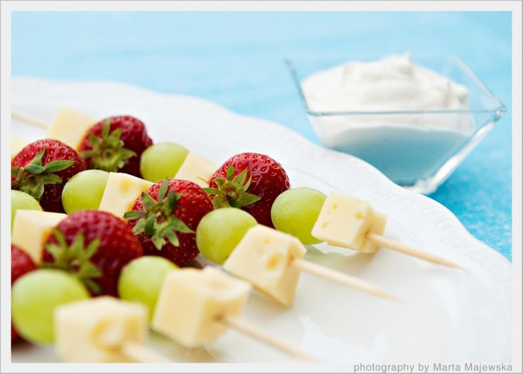 Fruit N Cheese skewers.  Perfect for a wine night.