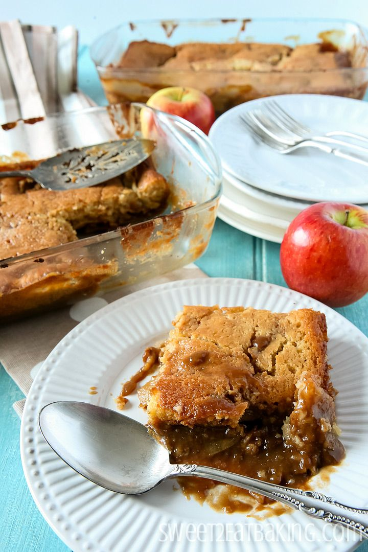 This Toffee Apple Pudding, also known as Caramel Apple Pudding, is rich, packed with apples, and is the perfect after-dinner treat. Enjoy with custard, ice cream, pouring cream, or simply by itself...