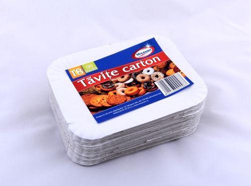 Tavite carton 17*21cm 100/set T8 | Misavan Curatenie