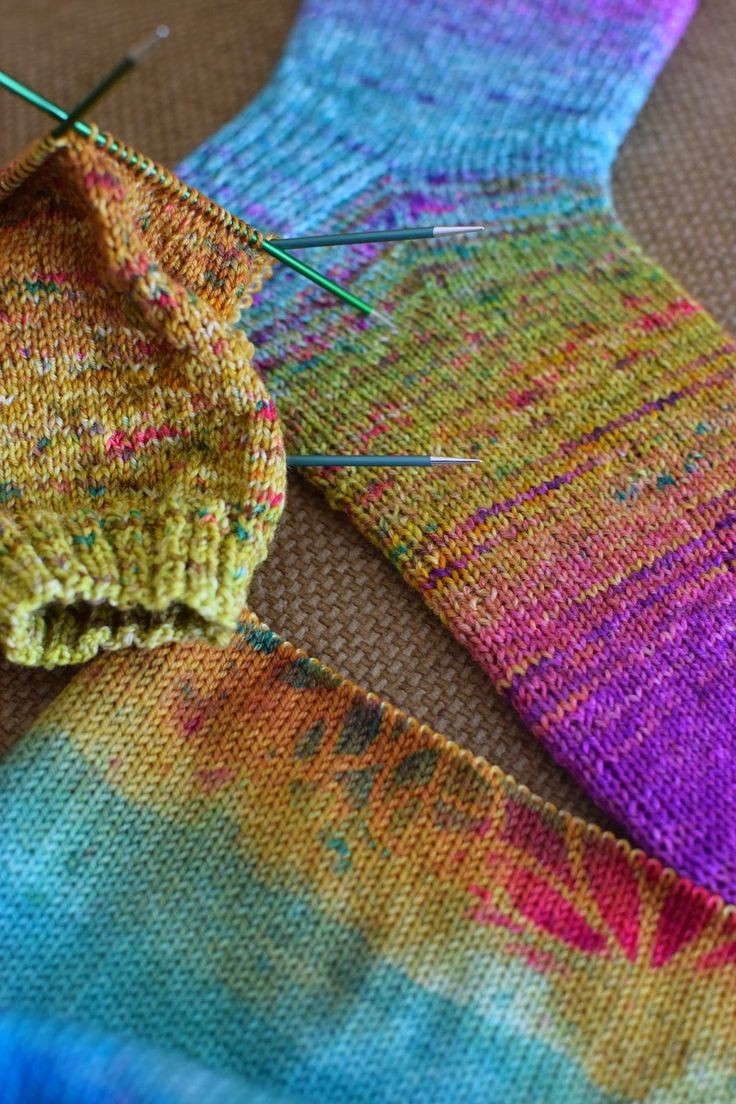 Hi, Knitters, I have a quick sock update for you today. I have finished the first sock blank sock. Sock blanks are machine knit pi...