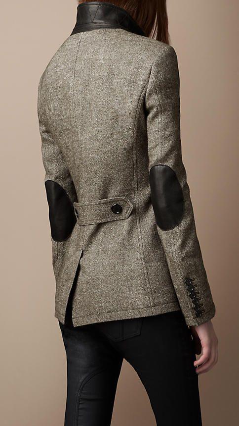 burberry linen blend jacket.