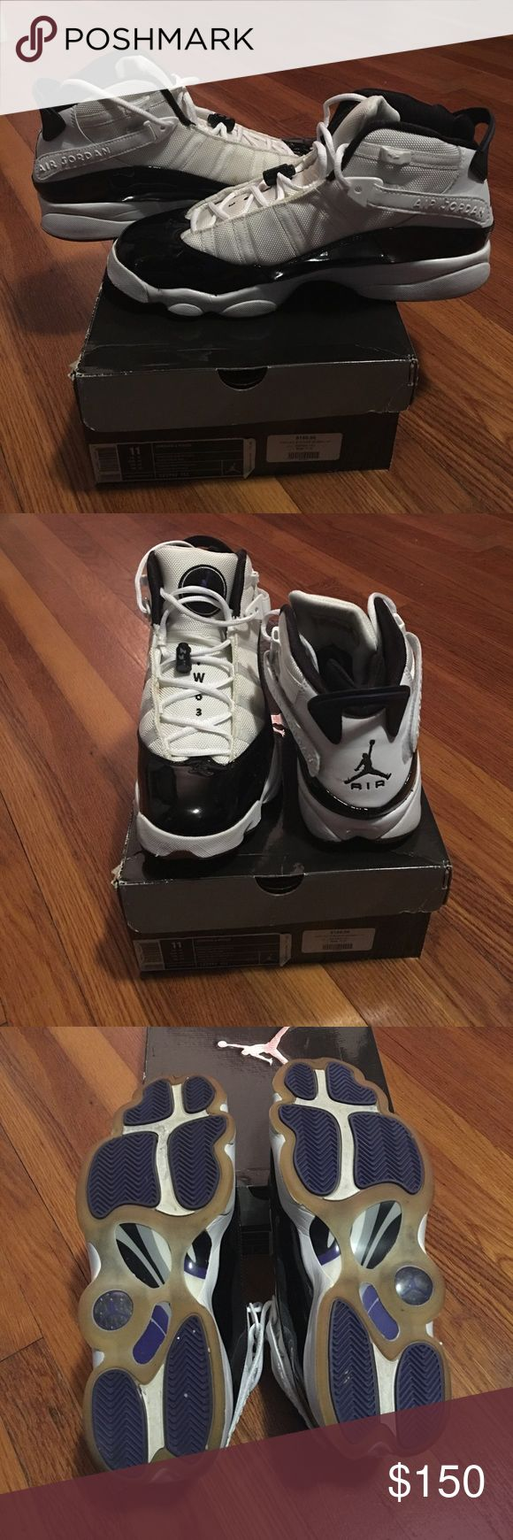 Jordan 6 Rings Black and white Jordan 6 Rings. Worn but in great condition! Jordan Shoes Sneakers