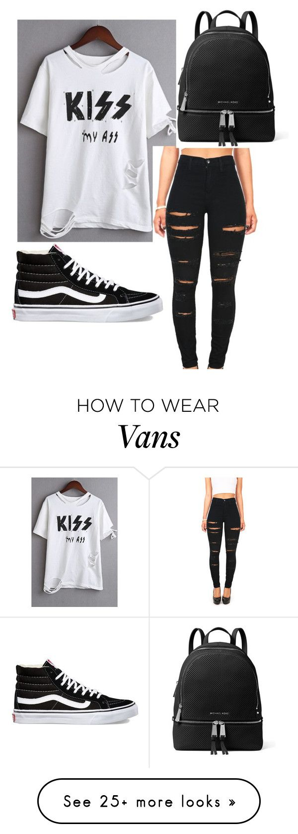 """Day off"" by barrystilinskiqueen on Polyvore featuring WithChic, Vibrant, Vans and MICHAEL Michael Kors"