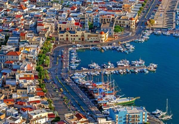 The town of Kalymnos ....