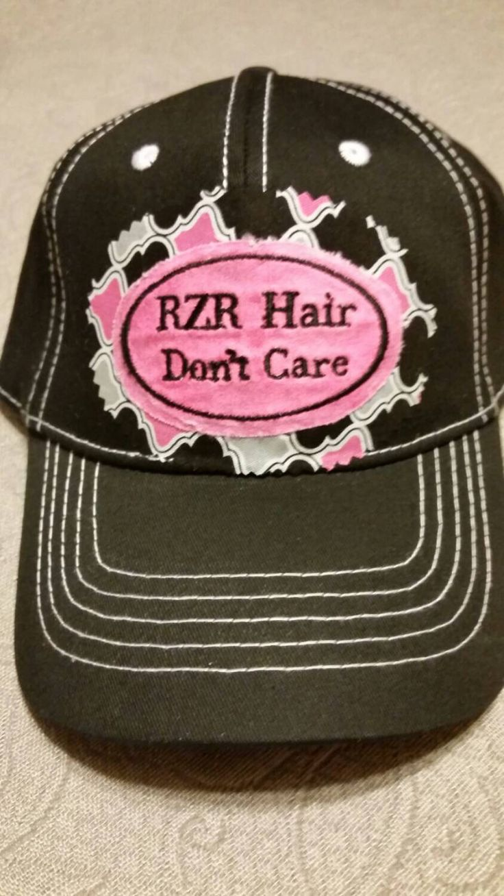 RZR Hair Don't Care Hat by BraapBling on Etsy https://www.etsy.com/listing/274431312/rzr-hair-dont-care-hat