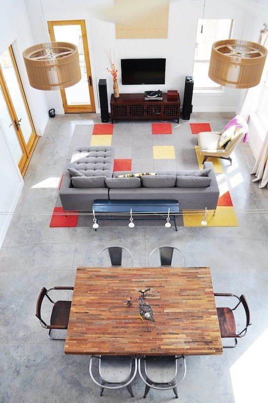17 Best ideas about Living Dining Combo on Pinterest Concrete