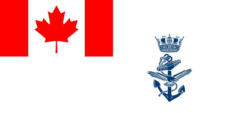 The ensign of the Royal Canadian Navy, the sea element of Canada's Armed Forces. The navy's motto	is 'Parati vero parati' which is Latin for Ready Aye Ready, and the RCN march is 'Heart of Oak'. The navy's  Commander-in-chief is Elizabeth II, Queen of Canada, represented by Governor General, Julie Payette. The Royal Canadian Navy was founded in 1910 as the Naval Service of Canada and given royal sanction on 29 August 1911. The Royal Canadian Navy was amalgamated with the army and air force…