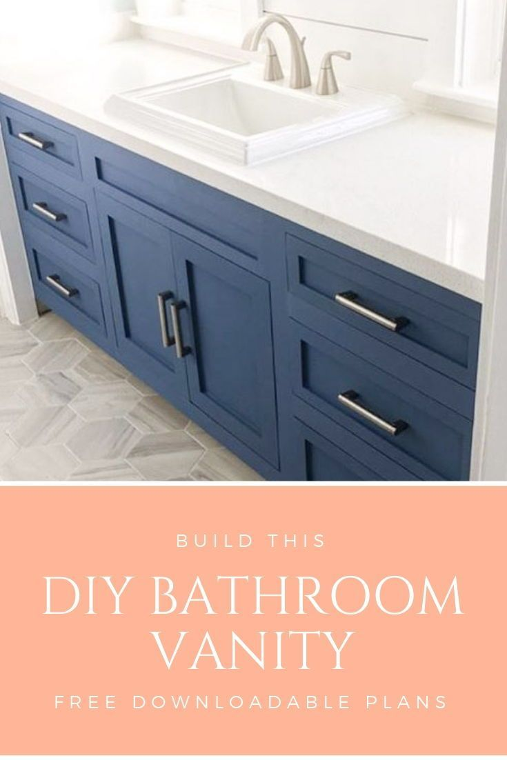 Build This Beautiful Diy 72 Bathroom Vanity Cabinet With Using These Free Downloadable Plans F 72 Bathroom Vanity Diy Bathroom Vanity Rustic Bathroom Vanities