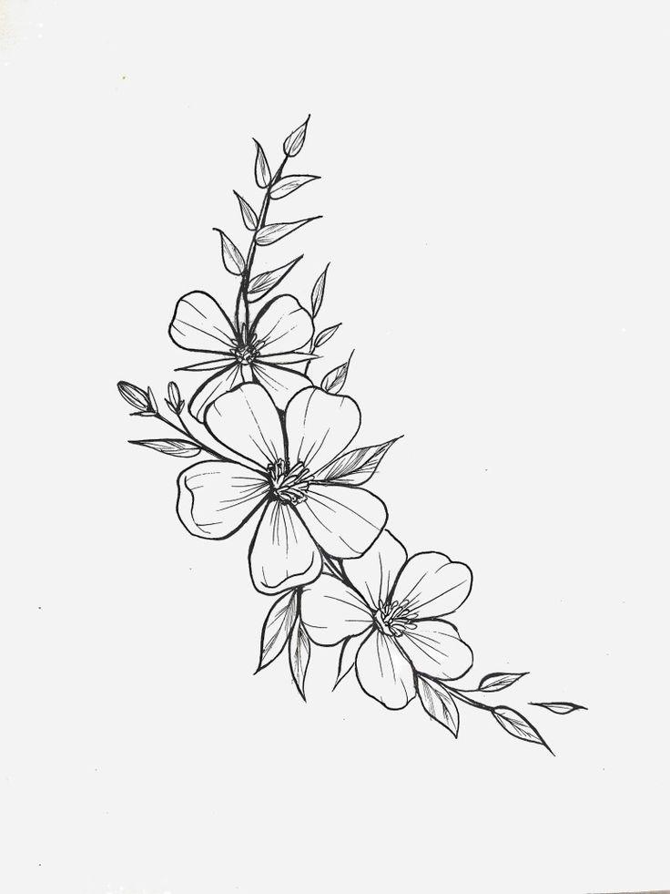мини рисунки цветок