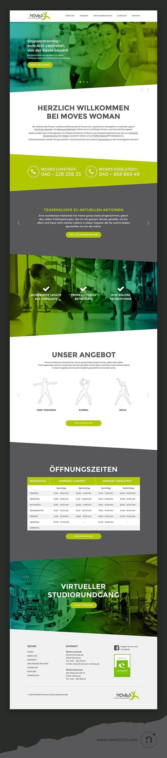 Case Study for a relaunch of the MOVES WOMAN Website – a Fitness- and Health-Studio in Hamburg, Germany.