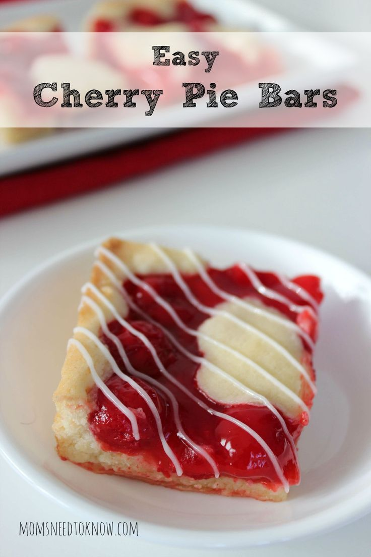 This Easy Cherry Pie Bars Recipe is so simple to make and tastes fabulous! Sure to please any crowd!
