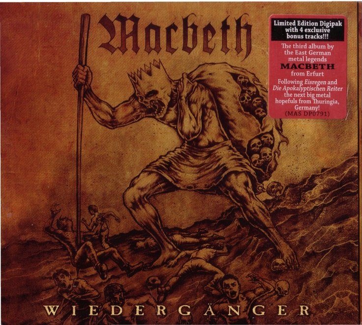 cover artwork i made for Germany Heavy Metal - Macbeth