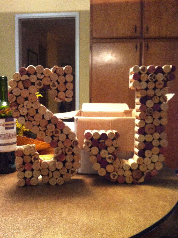 Finished Wine Cork Letter J