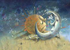¿Cómo podría existir el Amor Imposible? Si es Amor es posible, si no es posible no es Amor ¿Hay amor más imposible que el del Sol y la Luna?