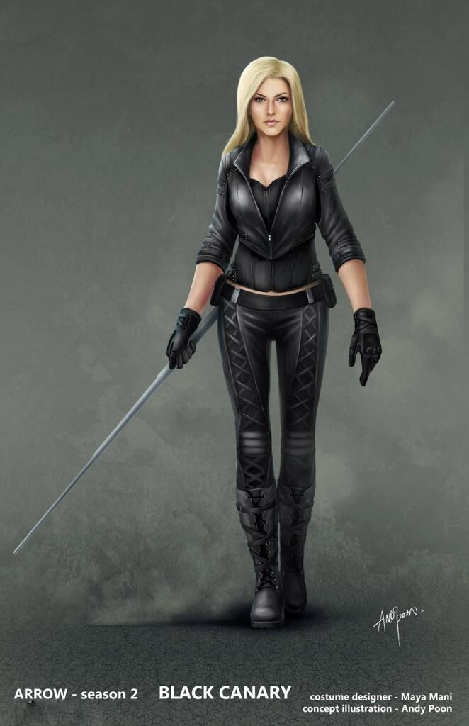 """I so wanna be Black Canary at Comic-Con!   Black Canary - """"Arrow"""" - Concept Art by Andy Poon."""