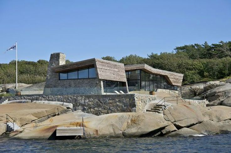 Summer house in Norway - Kebony and stone work