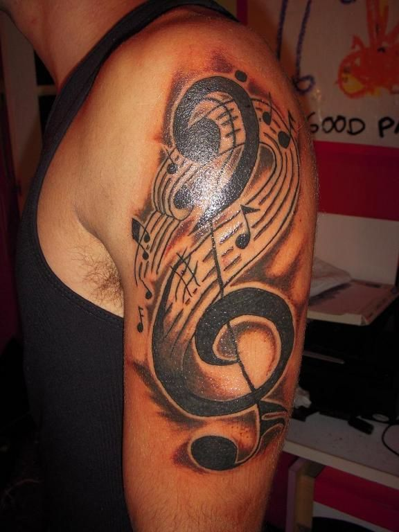 Music+Tattoo+Designs+For+Men | Music Sleeve Again