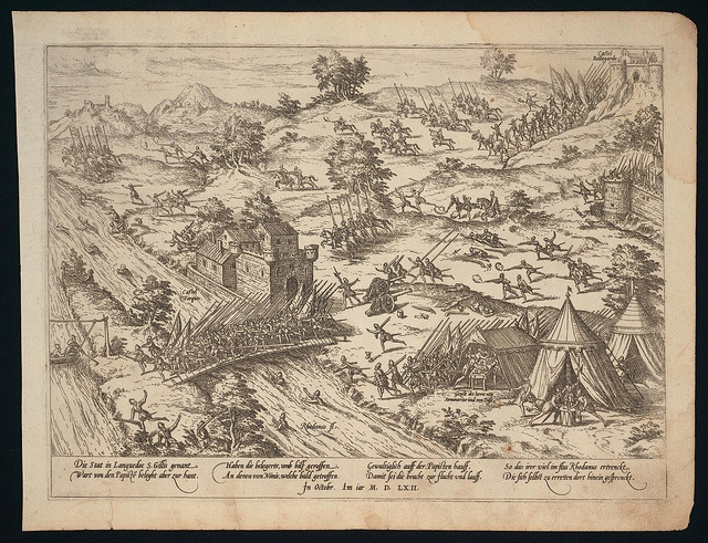 Entsetzung von St. Gilles durch die Protestanten von Nimes (c 1562)