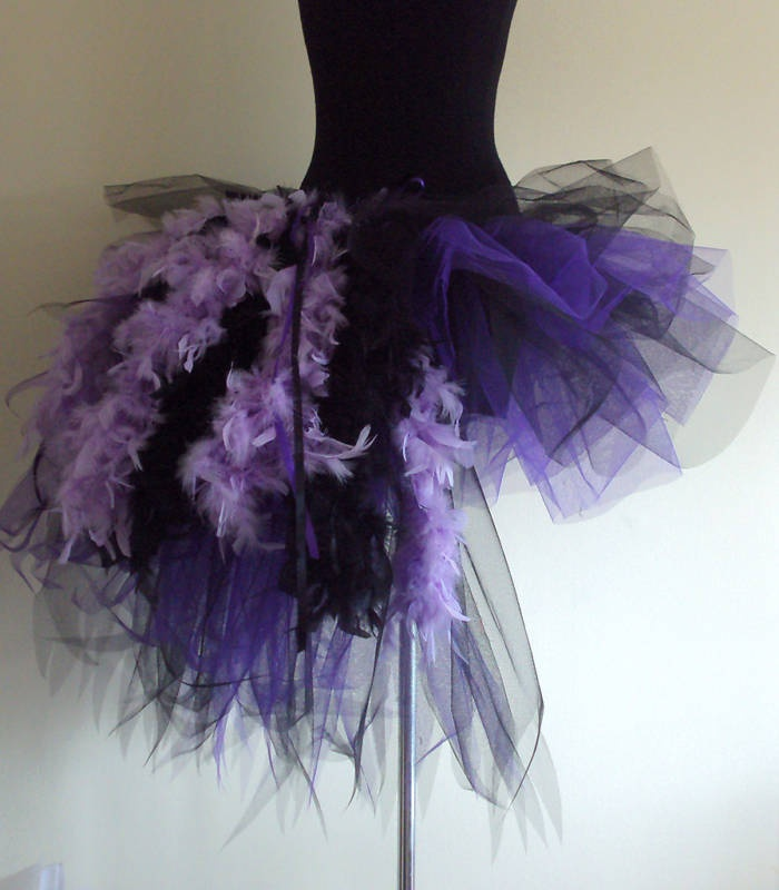 Wow!! (Purple & Black Tutu)