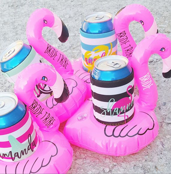 NEW Bachelorette Flamingo Drink Floats Bride Tribe by ThreeTwo1