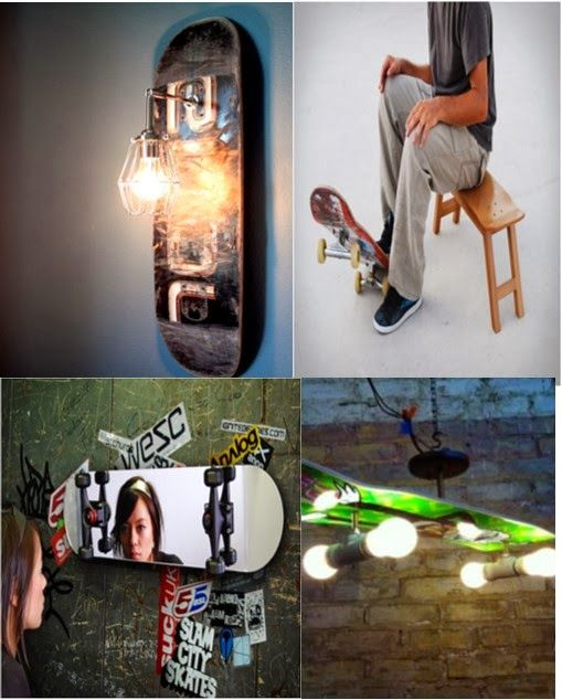Skateboard Decor Youth Rooms And Skateboard On Pinterest