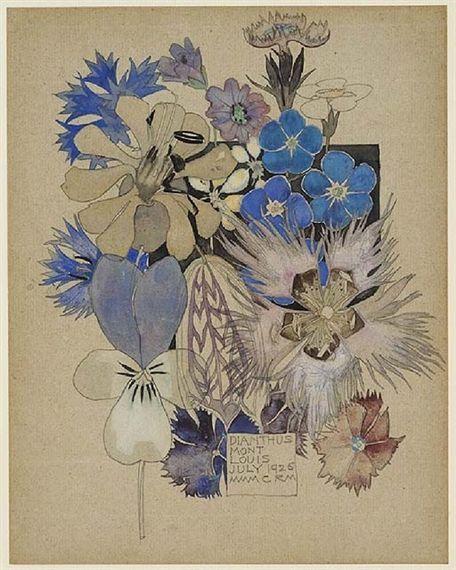 Dianthus, Mont-Louis,1925| Charles Rennie Mackintosh (6)