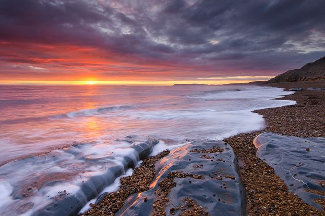 Atherfield Beach at Sunset