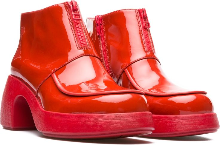 Camper Thelma Red Ankle boots Women K400226-002