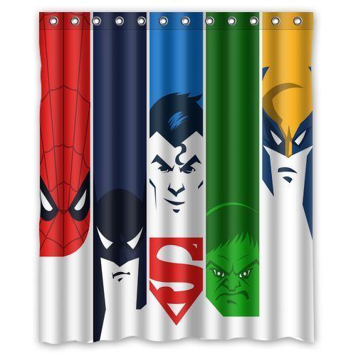 New Super Heroes Comic Custom Shower Curtain 66x72 60x72 48x72 36x72