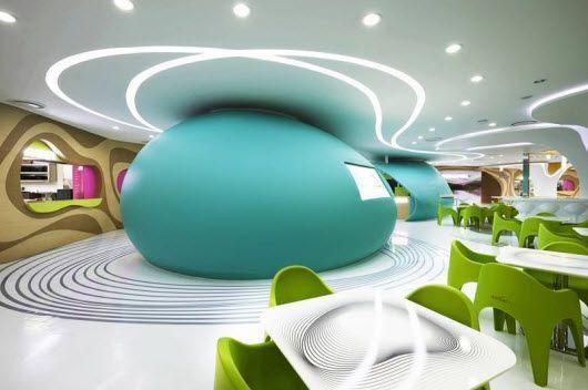 Leds y un gran diseño para este comedor en seúl. karim rashid ha ...