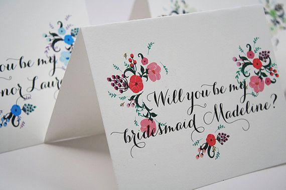 Will You Be My Bridesmaid Notecard
