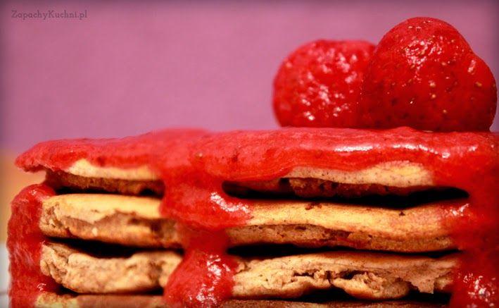 Walentynkowe, pełnoziarniste pancakes | Zapachy Kuchni