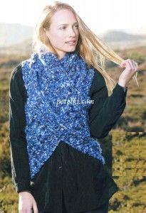 Оригинальный жилет из шарфа