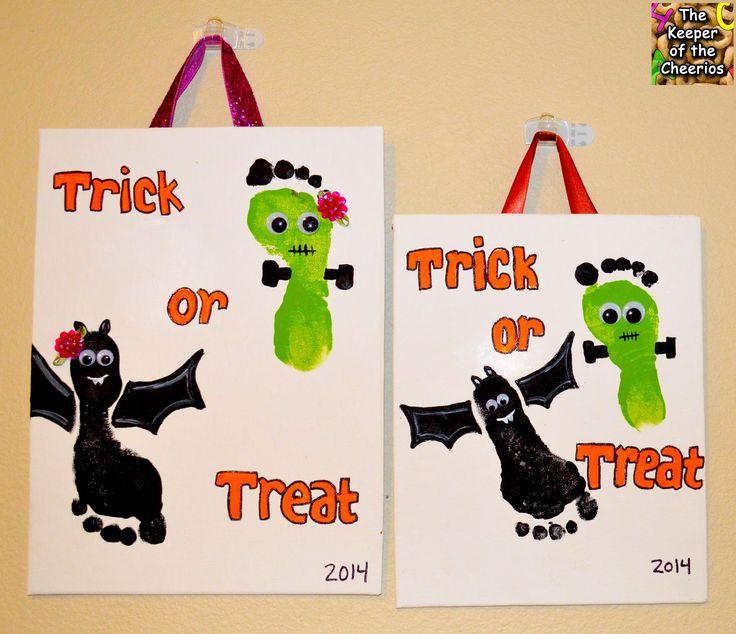 Spooky Halloween Footprints