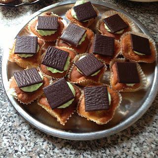 kager og opskrifter: Æble cupcakes med Mynte frosting
